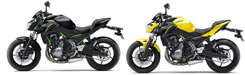 2018 Kawasaki Z650 Receives New Colors